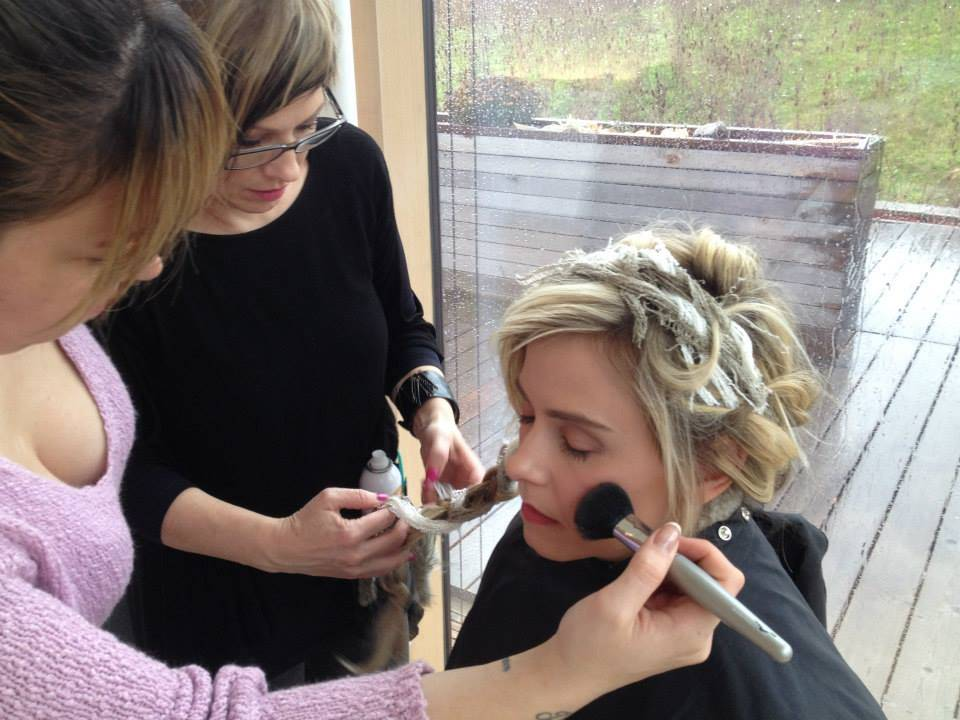 Element Hair at the Grand Magazine photo shoot for Jan/Feb issue