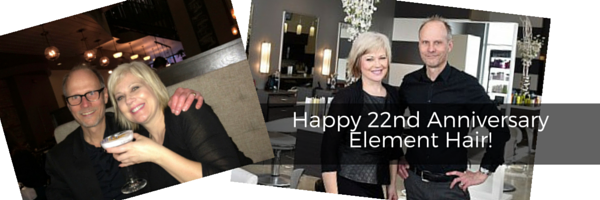 Element Hair 22nd Anniversary serving Kitchener and Waterloo