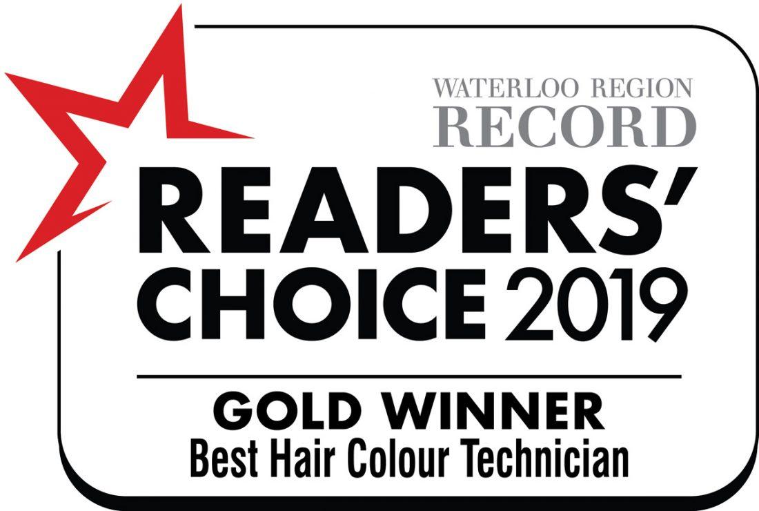 Gold Winner best hair colour technician