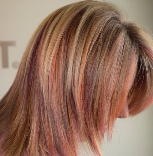 sunset inspired hair color