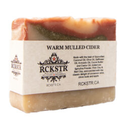 Warm mulled cider soap bar made with natural ingredients