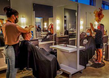 element-hair-stylist-cutting-hair